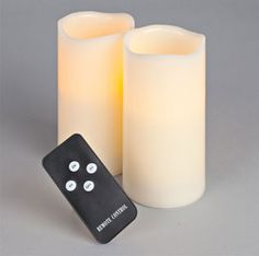 i'm doing this. AMAZE!!! remote-controlled, battery-operated, candles (with timer, too) for non-electric chandelier over bed!!!!!!!!!!!!!!!!!!