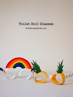 Can you tell these colorful glasses were once toilet paper rolls? We sure can't, @pinkstripeysock!