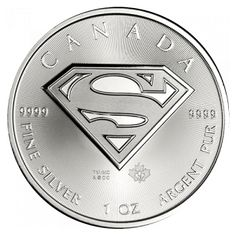 Canadian Mint Superman Silver coins have a limited mintage of only 1 million coins. These coins also come in custom-designed mint rolls and cases and are extremely collectible.  Each Supermant Silver Coin contains 1 full ounce of pure .9999 fine silver with premium frosting that enhances the engraving in a unique way for the coin.  he reverse image features Superman's iconic S-Shield and the obverse depicts the effigy of Queen Elizabeth II.