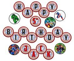 THE AVENGERS  Birthday Party Banner  Digital  by GELATODESIGN, $6.00