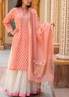 Peach-Chanderi-Designer-Salwar-Suit-VASSP249 #Vasansi www.vasansi.com