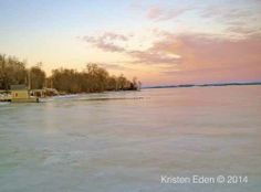 """La Vie en Rose"" in Essex, NY! Enchanting images of Rosslyn's boathouse at sunset taken by photographer, Kristen Eden, in February ""La Vie en Rose"". Lake Champlain, Boathouse, February, Sunset, Beach, Water, Outdoor, Image, Landscape Rake"