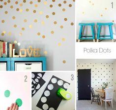 DIY Cómo decorar paredes con washi tape y polka dots   el taller de las cosas bonitas
