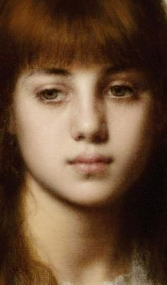 Alexei Alexeievich Harlamoff - Portrait of a Young Girl (detail)