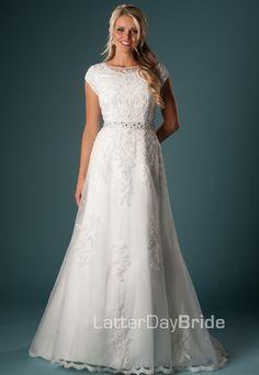 Modest Wedding Dress, Abelardo | LatterDayBride & Prom