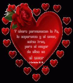 Hermosos corazones de amor con frase