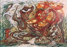 Daphne Odjig - Canadian Art History and Native Art - The Art History Archive Native Canadian, Canadian Art, Daphne Odjig, Postmodern Art, Female Painters, Native American Paintings, Canadian Painters, Indian Artist, Art History