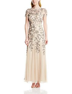 Adrianna Papell Women's Floral Beaded Godet Gown, Taupe/Pink, 4 Adrianna Papell http://www.amazon.com/dp/B00OG0GYDM/ref=cm_sw_r_pi_dp_nCMfvb1P6MAYT