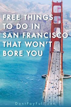 20 Free Things to Do in San Francisco That Won't Bore You - Finance tips, saving money, budgeting planner Ways To Save Money, Money Tips, Money Saving Tips, Travel Ideas, Budget Travel, Travel Tips, Cheap Travel, Usa Travel, Travel Hacks