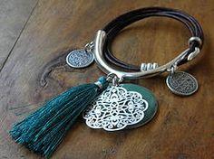 Bracelet demi-jonc et cuir Bahia Del Sol - BCDJ1