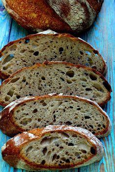 Vadkovászsuli: Kovászos fehér kenyér maradék petrezselymes burgonyával Sourdough Bread, Banana Bread, Bakery, Paleo, Desserts, Recipes, Food, Meal, Bakery Shops