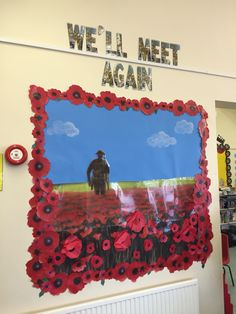 WW2 classroom display Classroom Displays Ks2, Teaching Displays, Class Displays, School Displays, Teaching Art, Ww1 Display, Display Ideas, Display Boards For School, Remembrance Day Art