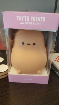 """SMOKO Couch potato ambient light. So Adorable. This little night light is rechargable via USB cord (included) and roughlt 4"""" x 4.5"""". There is an easy sensor to turn the light on or off. Kawaii Potato, Cute Potato, Cute Room Ideas, Cute Room Decor, Room Ideas Bedroom, Bedroom Decor, Deco Disney, Cute Night Lights, Kawaii Plush"""