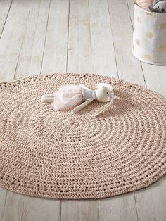 Teppich, rund - Nuderosa+Ocker - 8