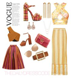 """""""The daily dress code www.terridanyale.com"""" by terrikingtv on Polyvore featuring Gucci, Luxiro, Prada, Missoni Mare, Brent Neale, ERTH, House of Holland, Tabitha Simmons, Rosetta Getty and Linda Farrow"""