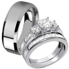 10 Best His And Hers Wedding Rings Sets Images On Pinterest