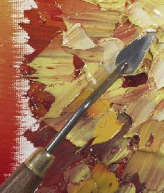Using a knife palette with acrylic paint