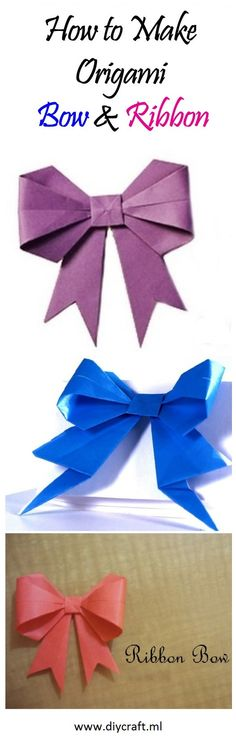 How to Make Origami Bow & Ribbon