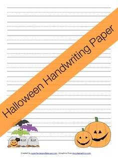 Free Printable - Halloween Handwriting Paper