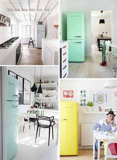Who wouldn't want a fucking SMEG fridge, am I right? What's that saying... Smeg on the fridge, not on the dick? Not a saying? Ok. /// Smeg by decor8, via Flickr