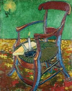Van Gogh...Gauguin's chair.  I have a replica of this painting hanging on my living room wall.