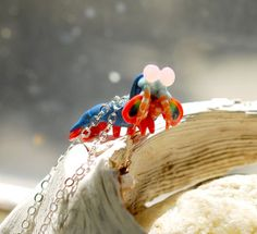 Mantis Shrimp Necklace Stomatopoda marine by indolentjellyfish