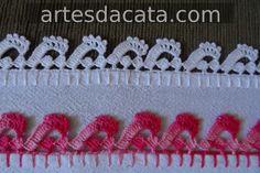BICOS CROCHE                                                                                                                                                                                 Mais Crochet Borders, Crochet Stitches, Crochet Hats, Pinterest Crochet, Bobbin Lace, Crochet Projects, Garland, Needlework, Knitting Patterns