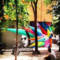 Arte urbano en Lavapies.