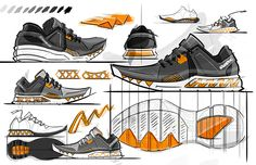 Footwear sketches on Behance