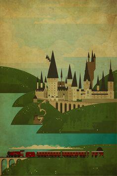 Hogwarts by Danny Haas | Society6