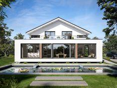 Designhaus mit satteldach und atrium haus concept m 210 for Hausbeispiele grundrisse