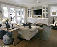 Love the wall with the TV and the built ins