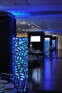 Like the glow columns. Adds a visual feature and light to the room.