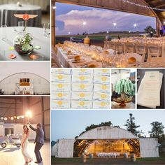 Hangar wedding inspiration!  <3