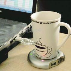 $3.30 USB 2.0 High Speed 4 Port Hub Coffee/Tea/Cup/Mug Warmer Heater