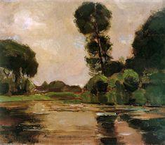 solitaire arbre à l' `gein` dim - (Piet Mondrian)