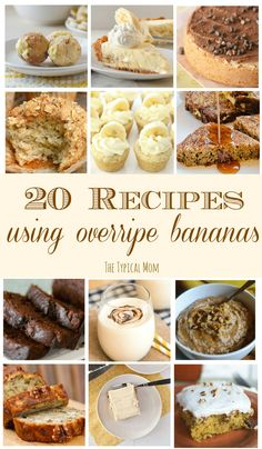 Here are lots of great overripe banana recipes, 25 of them! A great way to use b… Here are lots of great overripe banana recipes, 25 of them! A great way to use brown bananas and make something delicious with them. Here are our favorites. Leftover Banana Recipes, Recipes For Old Bananas, Healthy Banana Recipes, Banana Bread Recipes, Fruit Recipes, Cooking Recipes, Dessert Recipes, Ripe Banana Recipes Indian, Frozen Banana Recipes