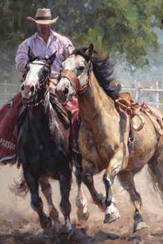 """""""After the Ride"""" by Jason Rich (Cowboy Artist)"""
