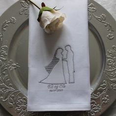 Serviett - Bryllup