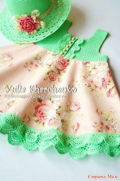 48 Best Ideas for sewing baby dress fabrics Crochet Toddler, Baby Girl Crochet, Crochet Baby Clothes, Crochet For Kids, Crochet Fabric, Girls Sweaters, Little Girl Dresses, Kind Mode, Baby Knitting