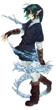 (Dark Link is awesome! I like the cyan lighting added to the hair, its weird but cool! -Shailene)