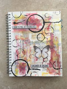 Trendy Spring Art Journal Pages Mini Albums Ideas Art Journal Backgrounds, Art Journal Pages, Junk Journal, Art Journals, Visual Journals, Mixed Media Journal, Mixed Media Canvas, Collage Book, Book Art