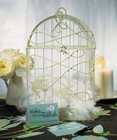 Love bird birdcage wedding decor