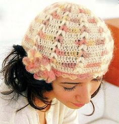 tejiendo a crochet | gorro matizado a gancho