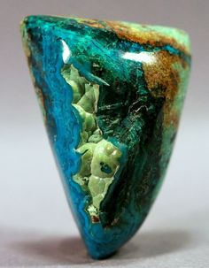 Gem Silica with Azurite and Malachite.  Gem Silica or Gem Chrysocolla is a rare form of chalcedony colored by copper ... It is often found mixed with malachite, azurite, turquoise or quartz.