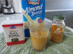 Sciatica Nerve Pain Smoothie for Pain Relief. Ingredients: 1/2 teaspoon black pepper,  1 teaspoon turmeric & almond milk, to help relieve sciatic pain. Author says it takes about half an hour to kick in.