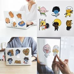 Kakao Friends Stickers Mobile Laptop Notebook Mirror Accessories Ryan Neo 103 #KakaoFriends