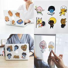 Kakao Friends Stickers Mobile Laptop Notebook Mirror Accessories Ryan Neo 103 #KakaoFriends