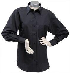 Foxcroft Wrinkle Free Solid Shirt, Basic Fit, Black, Women's Sizes 14W-24W Foxcroft. $34.00