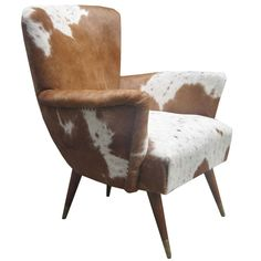Pair of Modernist Italian Cowhide Chairs